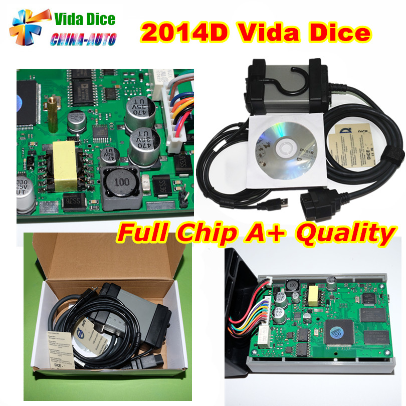 2017 New For Vo-l-vo Vida Dice 2014D Full Chip Car Diagnostic Tool With Multi-language For Vo-l-vo Dice Fast Shipping hot new xtuner e3 easydiag wireless obdii full diagnostic tool with special function pefect replacement for vpecker easydiag