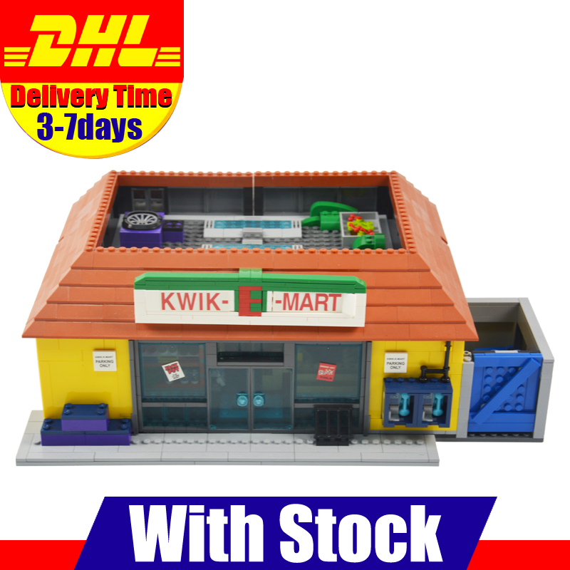 In-Stock LEPIN 16004 2232Pcs The Simpsons The Kwik-E-Mart Model Building Blocks Set Clone 71016 Toys For Children