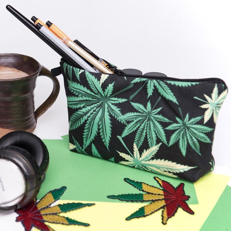 Cannabis Printed Make Up Travel Bag Bags