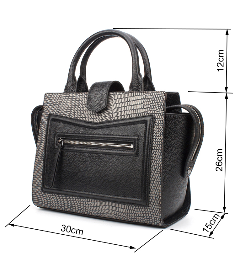 5ad2cfc5937f Banlear Women Large Trapeze Shoulder Bags Smile Lizard Genuine ...