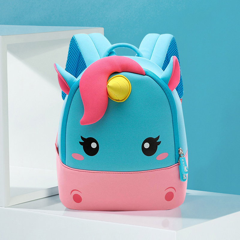 Toddler Girl Backpack, 3D Mini Unicorn Cartoon Travel Pre School Bag For Girls Boys Kids  2-8 Years