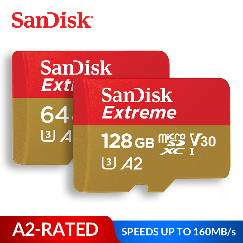 SanDisk Memory Card Extreme Micro SD Card UHS-I C10 U3 V30 A2 MicroSDHC/microSDXC Flash 32GB 64GB 128GB 256GB 400GB TF Card(China)