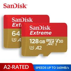 Cartão micro sd extremo do cartão de memória de sandisk UHS-I c10 u3 v30 a2 microsdhc/microsdxc flash 32 gb 64 gb 128 gb 256 gb 400 gb tf cartão