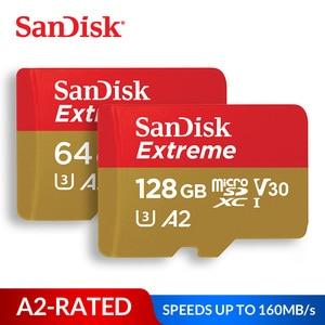 Image 1 - سانديسك بطاقة الذاكرة المتطرفة مايكرو SD بطاقة UHS I C10 U3 V30 A2 microSDHC/microSDXC فلاش 32 جيجابايت 64 جيجابايت 128 جيجابايت 256 جيجابايت 400 جيجابايت TF بطاقة