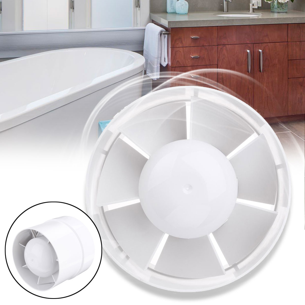 Bathroom Air Vent | Us 19 31 48 Off 4 5 6 Inch Dusted Inline Fan Bathroom Exhaust Ventilator Ventilation Fan Cooling Air Vent Kitchen Wall Ceiling Exhauster Booster In