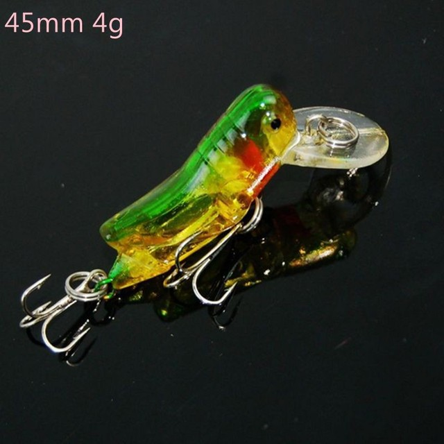 1Pcs Hot sale Freshwater Mini Fishing Lure Insect Bait Locust Wobbler Carp Fishing Tackle Pesca Isca Artificial 45mm 3.5g