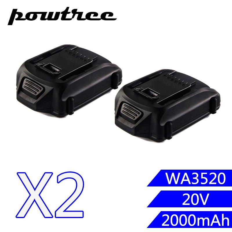2PACKS 2000mAh 20V Li-ion WA3520 Rechargeable Battery: WORX WA3520 WG545 WG155 WG255 WG251 WG151 WG151.5 WG155 WG155.5 2packs 2000mah 12v li ion wa3503 rechargeable battery for worx wu127 wu151 wx6777 wx3827 wx125wx125 6 wx125 7 wx125 m wx126