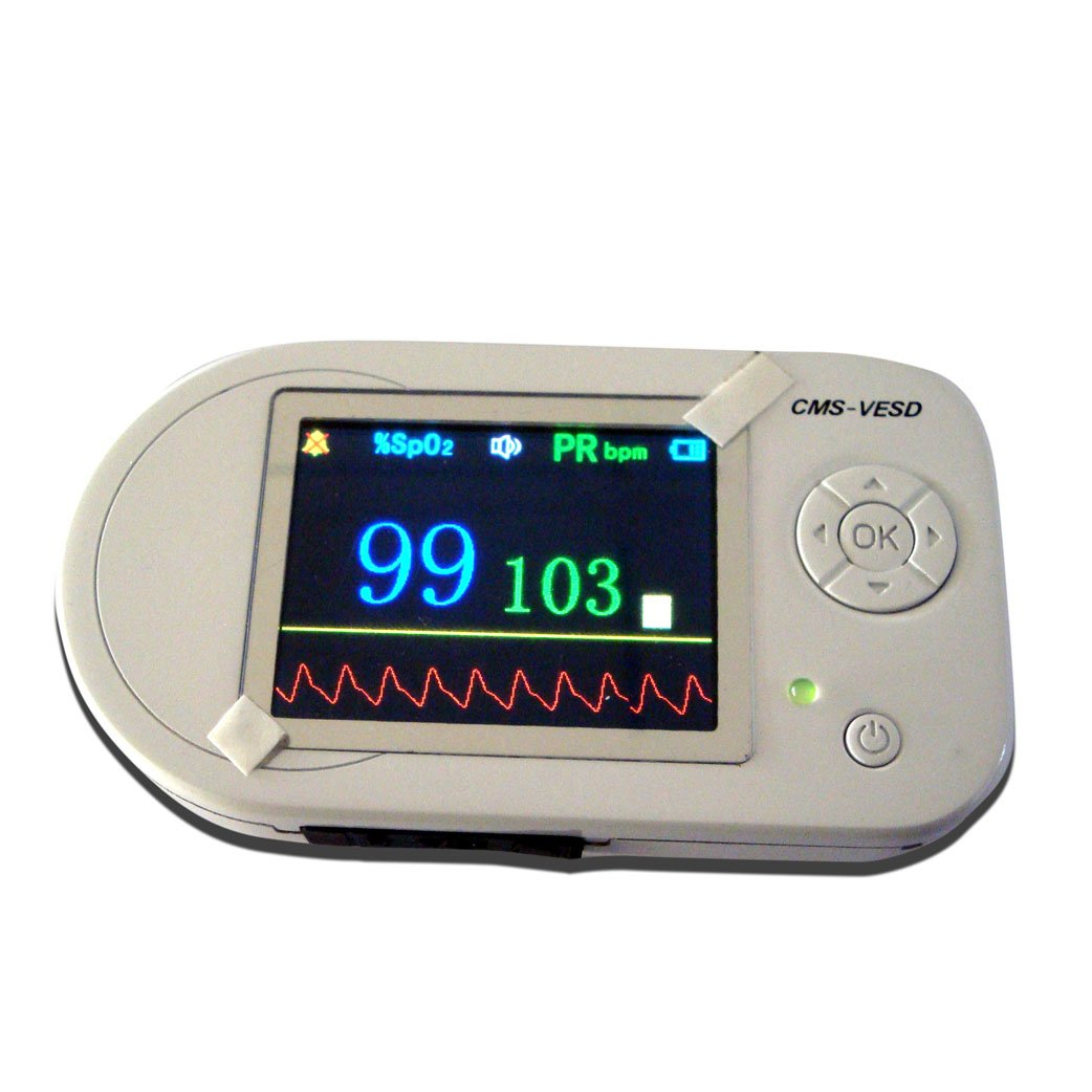 Visual electronic stethoscope +ECG + SpO2 VESD for patient care doctor use healthcare and clinical test monitor free ship