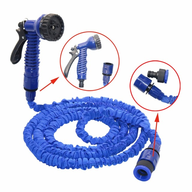 25-75FT Magic Flexible Hose For Garden Car Expandable Garden Hose irrigation 7 in 1 Spray Gun Quick Connector