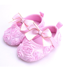 Princess Baby Girls Shoes Fashion Butterfly-knot With Rose Flower Toddler Prewalker Soft Soled Non-slip Summer Moccasin