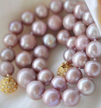 Eternal wedding Women Gift word 925 Sterling silver real natural big DYY+++817 8-9MM Genuine Natural Lavender ak