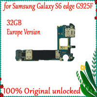 32GB Original unlocked motherboard For Samsung Galaxy S6 edge G925F Europe version Android system logic Mainboard