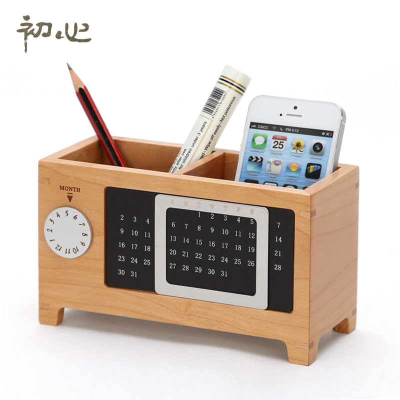 wooden storage box creative calendar storage box desktop storage