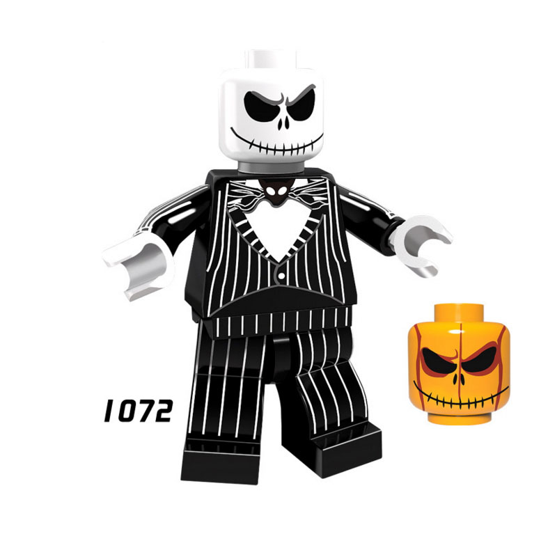 Single Sale Super Heroes Star Wars 1072 Jack Skellington Building Blocks Figure Bricks Toys Kids Gifts Compatible Legoed Ninjaed