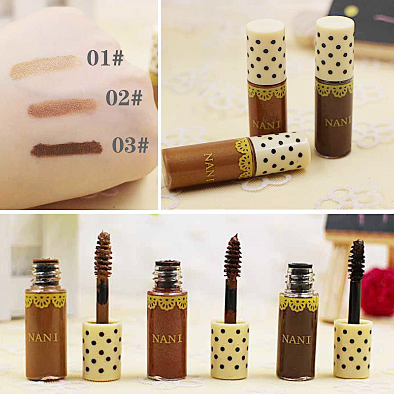 Brown durable waterproof and sweat not easy discoloration Dye eyebrow cream brush powder eyebrow enhancer CE017