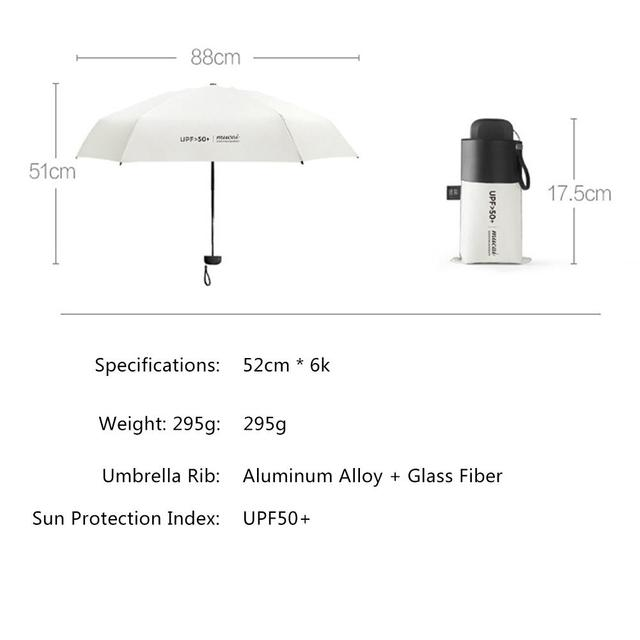 Anti-UV Pocket Mini Umbrella Rain Women Windproof Durable 5 Folding Sun Umbrellas Portable Sunscreen Female Parasol 5