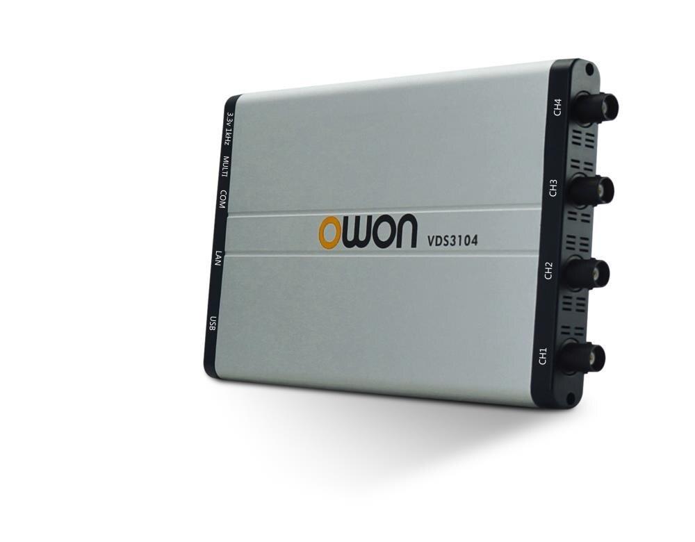 купить OWON VDS3104 100MHz PC based USB Oscilloscope 4+1 (multi) channels 1GS/s 10M Record Length oscillograph по цене 29691.79 рублей