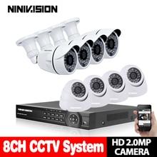 8CH CCTV System 720P HDMI AHD 960P DVR 1 TB HDD 8PCS 1.0 MP IR Outdoor Security Camera SONY 1200 TVL