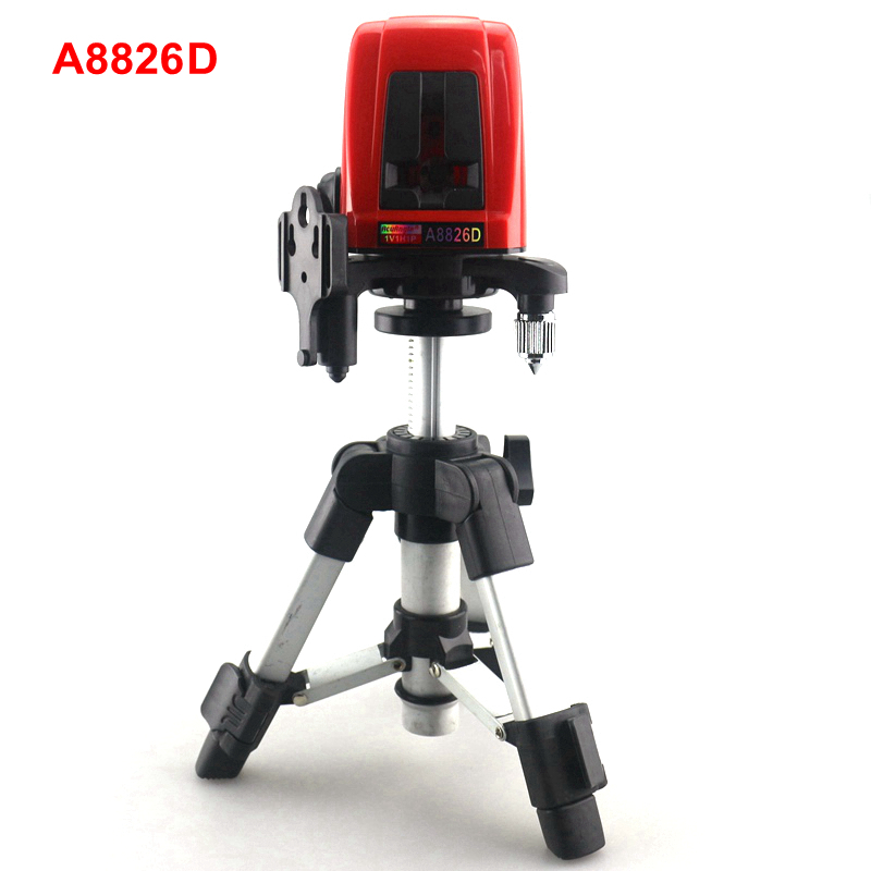 ACUANGLE A8826D Laser Level with AT280 Tripod 17.5-28cm 2 Red Cross line 360 degree Self-leveling Laser Meter Tape Measure firecore a8826d 2 lines laser level 1v1h1d cross self leveling red beam laser 0 28m tripod