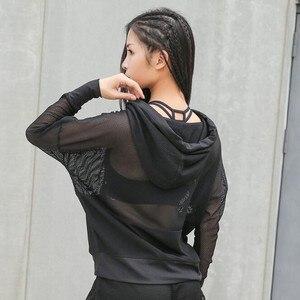 Jaqueta de fitness, casacos esportivos para mulheres, com capuz de malha