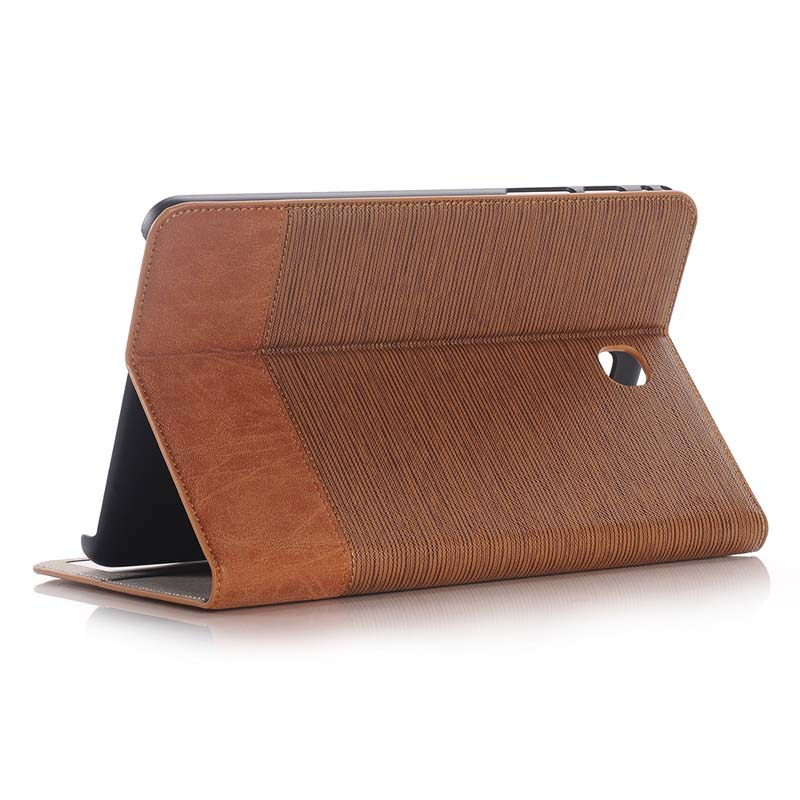 Cross Pattern Book Cover Card Slot Folio Stand PU Leather Magnet Smart Sleep Case For Samsung Galaxy Tab A 8.0 T350 T351 T355