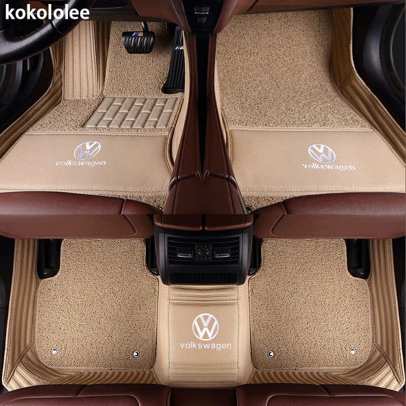 Kokololee Personnalisé de voiture tapis de sol pour Volkswagen Tous Les Modèles vw passat b5 6 polo de golf tiguan jetta touran touareg voiture styling auto - 2