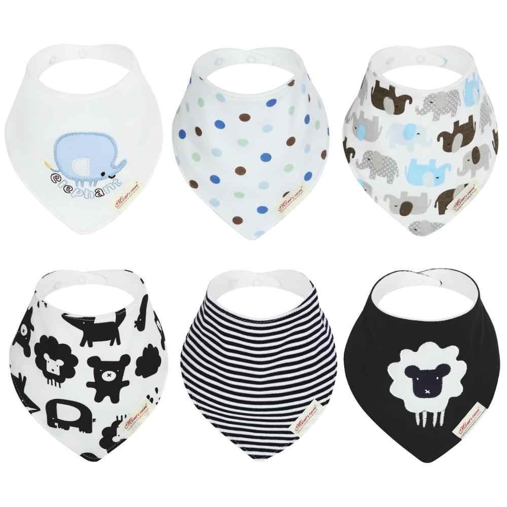 6 шт. органический хлопковый Детский шарф муслин слюнявчик бандана слюни нагрудники для новорожденных, для маленьких мальчиков младенец, девочка, малыш зимний шарф Водонепроницаемый нагрудник