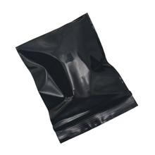 DHL Wholesale 5*7cm(2x2.75) Small Black Plastic Ziplock Bag Self Seal Zip Lock Reusable Zipper PE Package