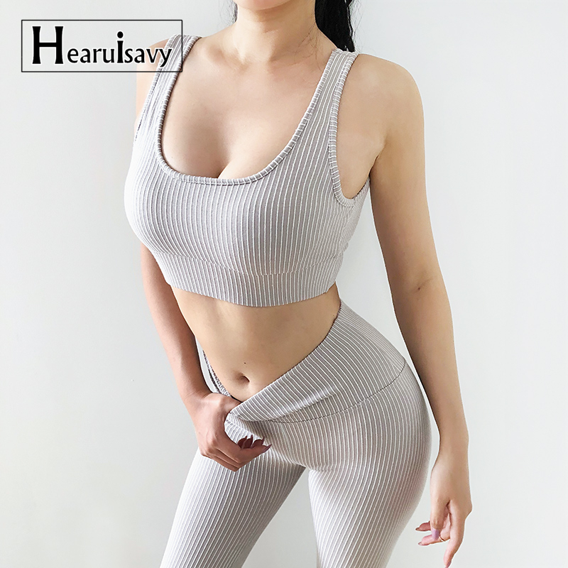 2 Piece Seamless Yoga Set For Women Fitness Gym Clothing Workout Sport Set Seamless Leggings Set Active Wear Gym Suit