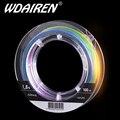 Плетеная леска WDAIREN  многоцветная леска 100 м  8 нитей  супер прочная гладкая леска из полиэтилена  0 4 #-8 0 #  10 м  1 цвет  рыболовные снасти