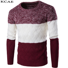 2016 New Designers High Quality Brands Winter Men's O-Neck Sweaters Mens Jumpers Pullovers Sweater Slim Sweater