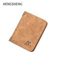 Vintage Small Male Wallet Men Leather Wallet Short Purse Male Card Case Pocket Coin Purse Solid Card Holders Carteira Masculina