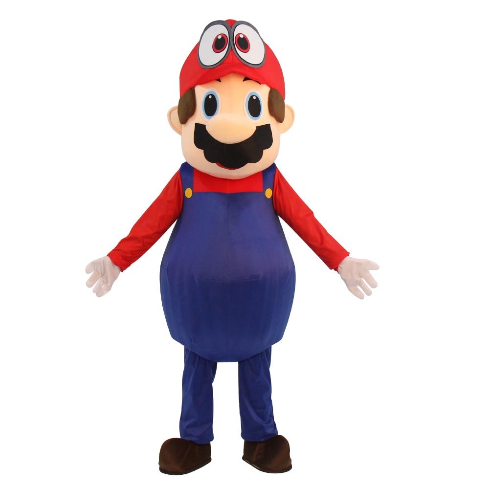 Brand new Mario adult Mascot Costume for Christmas Head internal is foam