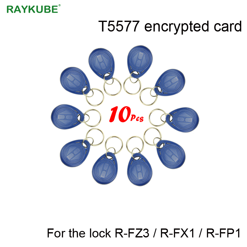 RAYKUBE T5577 Encrypted Card Blue Keys Only For Our Lock R-FZ3/R-FX1/R-FP1