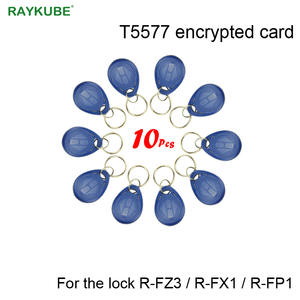 RAYKUBE T5577 Encrypted Card Blue Keys Only For Our Lock R-FZ3R-FX1R-FP1