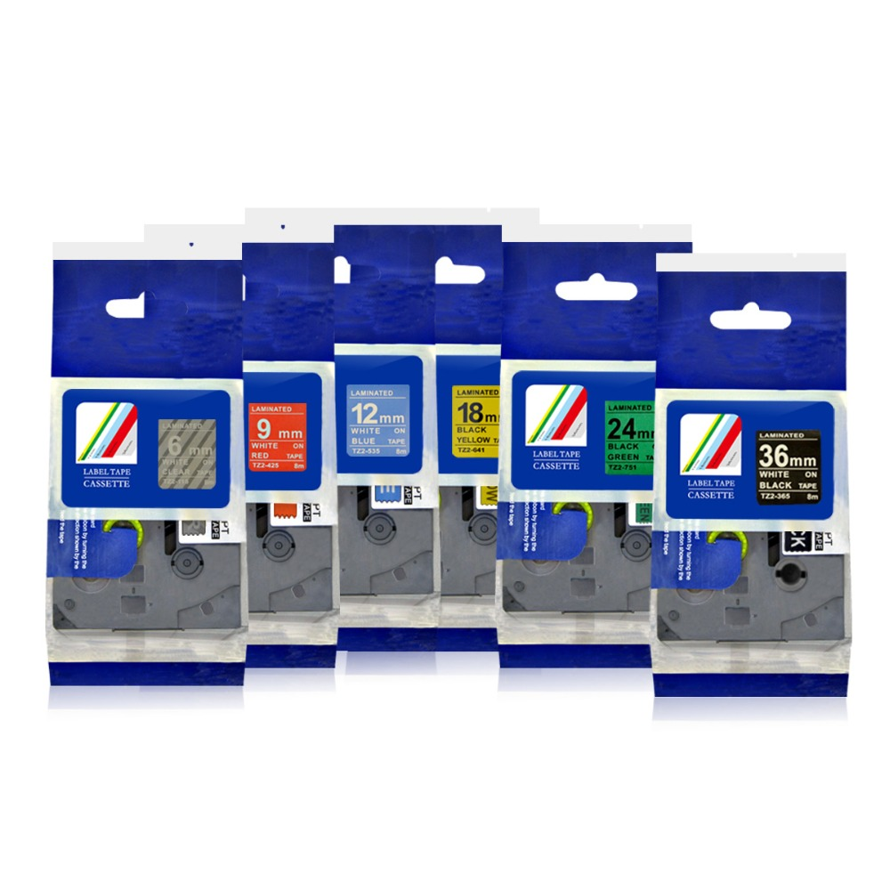 PUTY Multi-color Multi-model Standard Laminated Label Tapes Compatible For Brother TZe Tapes 1PCS Manufacturer Direct Selling