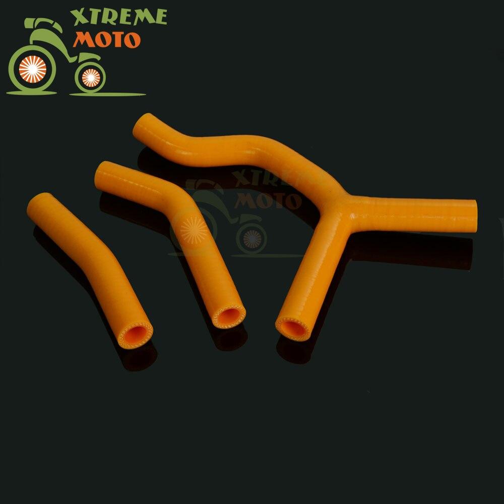 For KTM 125SX 200SX Radiator Orange Silicone Hose kit 2003-2006 2004 2005