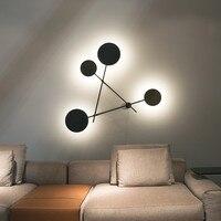 Modern LED Wall Lamp Black Indoor Wall Sconce Luminaire Mirror Headlights For Living Room Bathroom Decor Bar Wall light H023