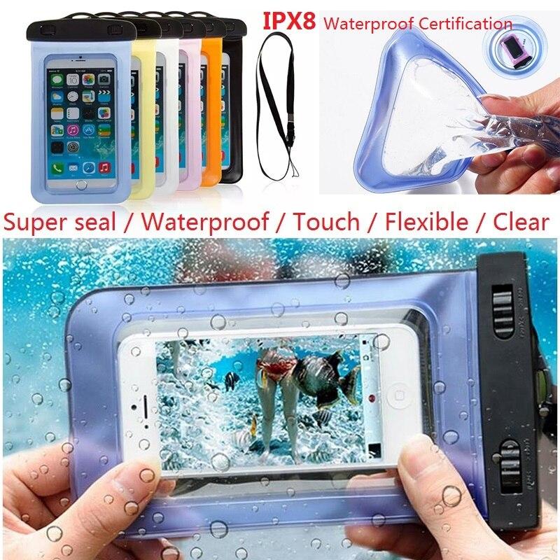 100% sellado Funda impermeable Bolsa Funda para teléfono con correa - Accesorios y repuestos para celulares - foto 1