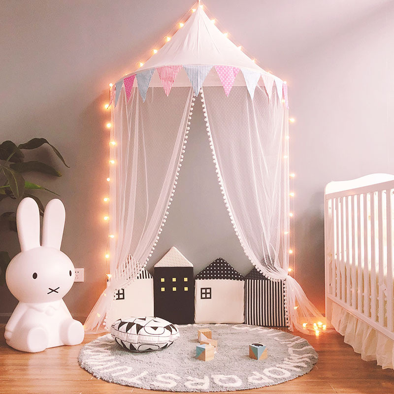 Baby Room Decor Birthday Gifts Photography Props Kids Teepee Tents Children Play House Cotton Bed Tent