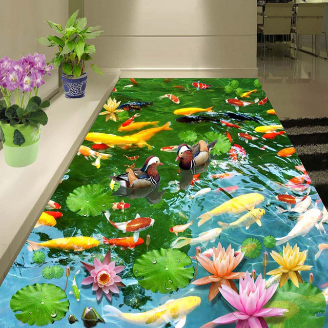 Pvc Self Adhesive Waterproof 3d Floor Murals Pastoral