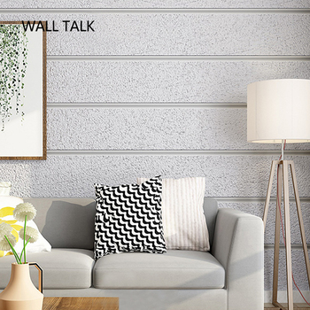 Suede Line Stripe Papel De Parede 3D Flocking Wallpaper For Bedroom Living Room TV Background Home Decoration 3D Wall Paper Roll