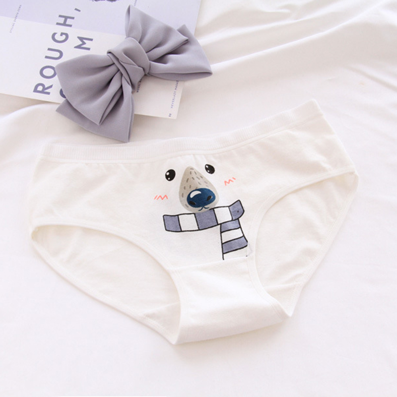 Lovely girl underwear cotton   panties   kid Polar bear girl's briefs Middle-waisted short comfortable underwear F0078