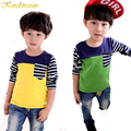 Kindstraum 2017 New Kids Long Sleeve T Shirts for Boys Cotton Casual Tops Printed Patchwork Children Clothing Spring Fall, MC291