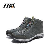 2017 TBA Men  Outdoor Hiking Sneakers Suede Mountain male black Climbing Camping Shoes High Cut Trekking Shoes