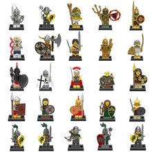 цены Medieval Knights Figures Gladiatus Dragon Warrior Soldier Weapon shield helmet Pharaoh Building Blocks Bricks Toys For Children