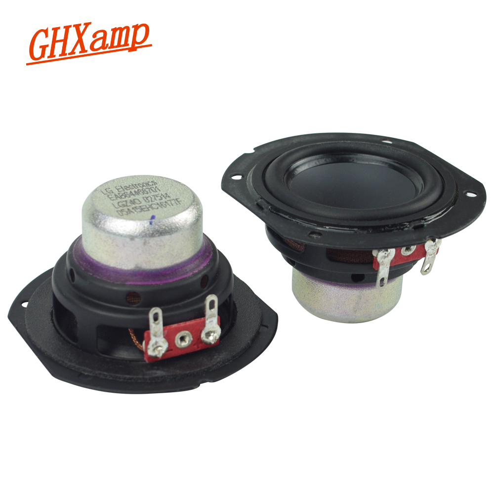 Ghxamp 2 inch Neodymium Full Frequency Speaker 4ohm 10W Large Stroke Bluetooth Speaker DIY 2.0 Desktop 2.1 Satellite Box 2PCS цена 2017