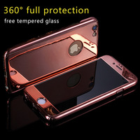 360 Full Body Protection Case For IPhone 6 6s 7 Plus Cover Tempered Glass Ultra Slim