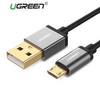 Ugreen Micro Usb-kabel Voor Samsung Xiaomi Snelle Lading USB Data kabel 3 m 2 m 1 m Android Microusb Oplaadkabel Mobiele Telefoon Kabel