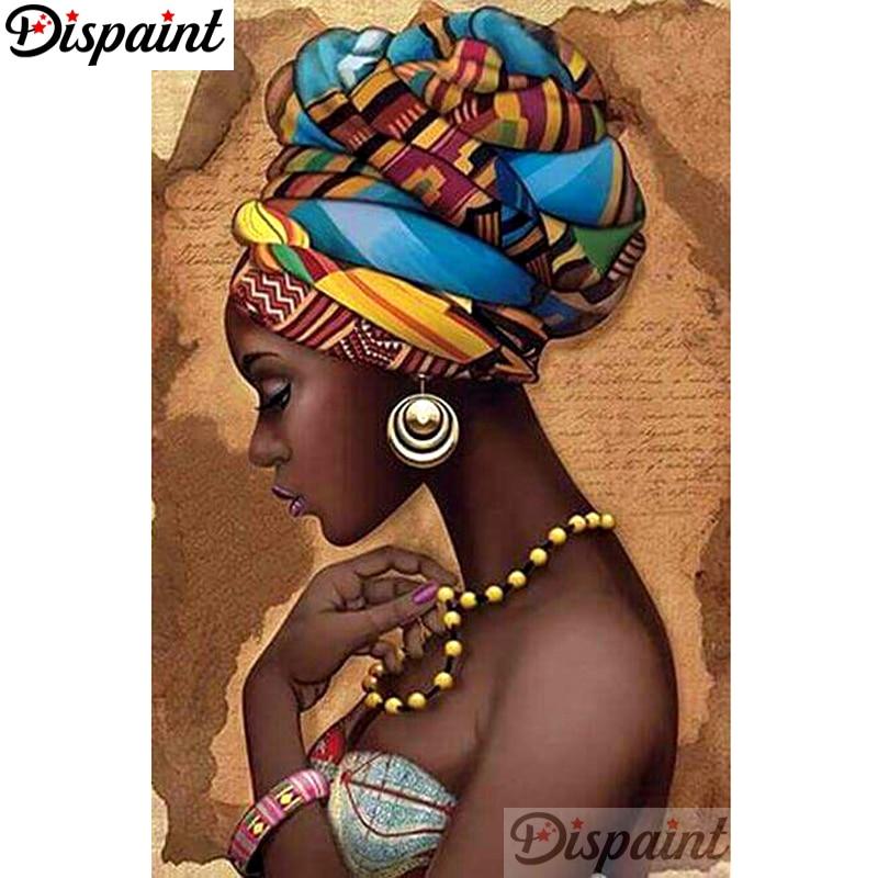 """Dipaint полная квадратная/круглая дрель 5D DIY Алмазная картина """"Африканская женщина"""" вышивка крестиком 3D домашний декор A10495"""